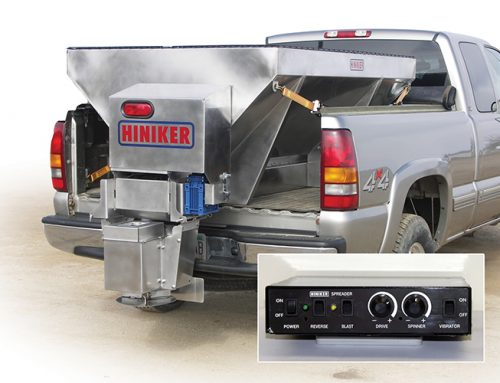 Hiniker Dual-Motor Electric Salt and Sand Spreaders