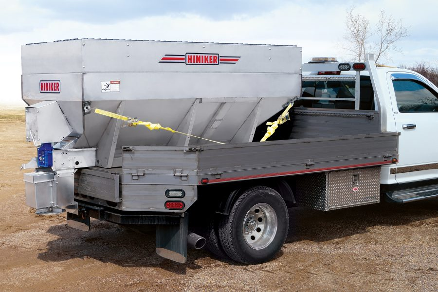 New Dual Motor Electric Auger Spreader From Hiniker Company