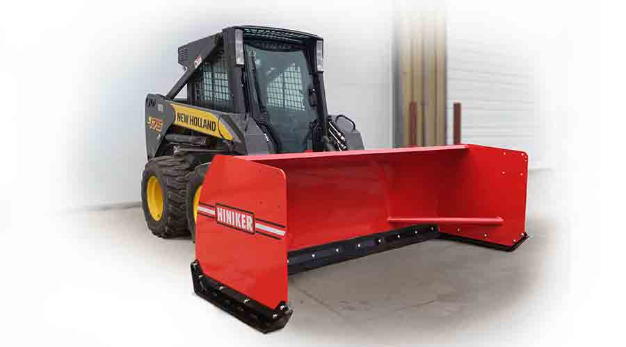 Hiniker Introduces New Skid Steer Snow Pushers
