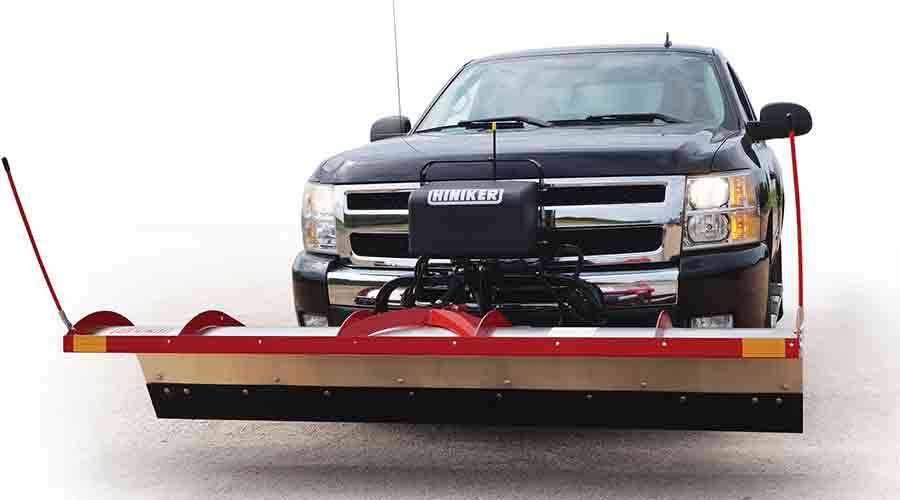 New Hiniker Tilt Lift Plow Utilizes O.e.m Truck Lights